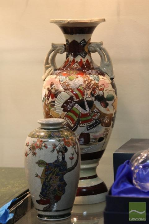 Satsuma Vase & Another