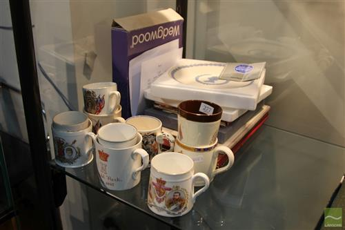 Wedgwood Coronation Plate with Royal Wares incl. Books & Mugs