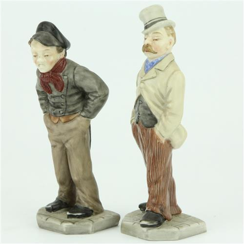 Royal Worcester 'Down & Out' Figural Menu Holders by James Hadley