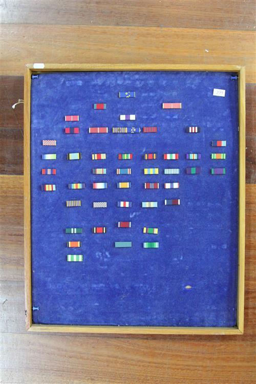 Display of Military Ribbons
