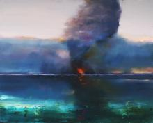 Geoff Dyer (1947 - ) - Changing Climate 122.5 x 152.5 cm (frame: 126 x 157 x 6 cm)