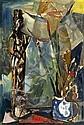 JUDY CASSAB (born 1920) - Still Life with Sculpture oil on board, Judy Cassab, Click for value