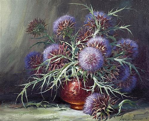 ANDRIS JANSONS (born 1939) - Scotch Thistle 1992 oil on canvas