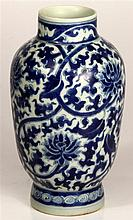 Chinese Antique Blue & White Vase
