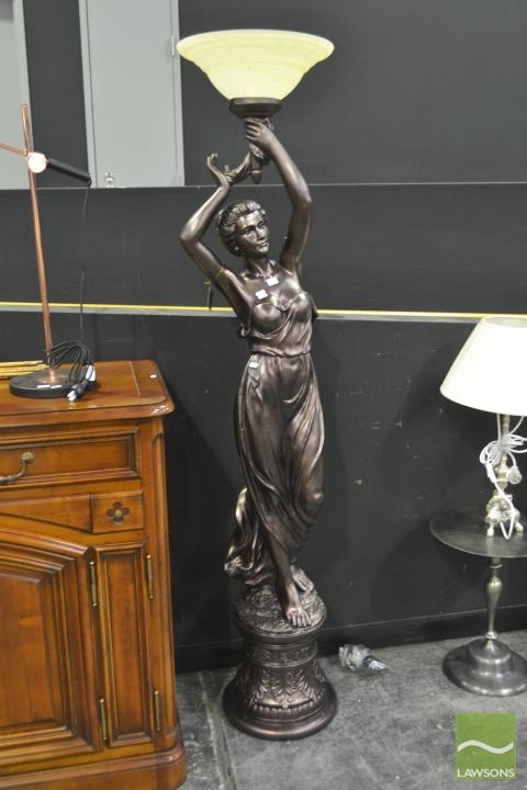 Large Lady Form Standard Lamp