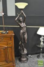 Large Lady Form Standard Lamp