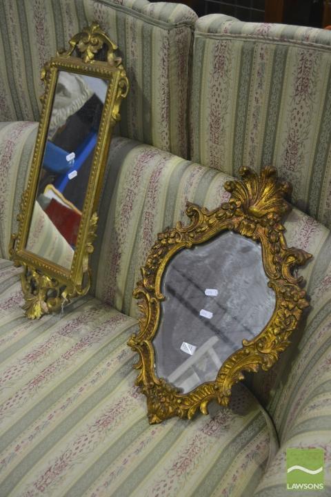 Gilt Framed Mirrors x 2