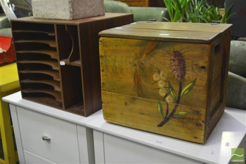 Timber Desk Organiser with a Timber Box