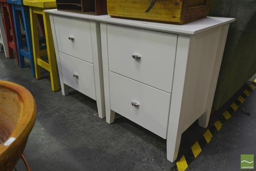 Pair of Timber Bedsides