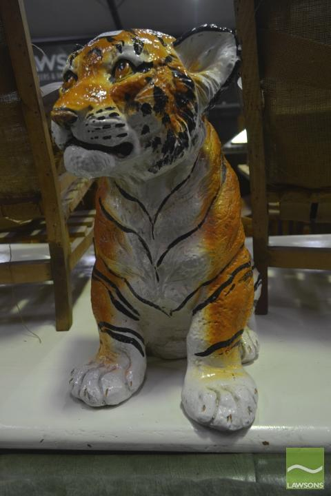Ceramic Crouching Tiger (repair to face)