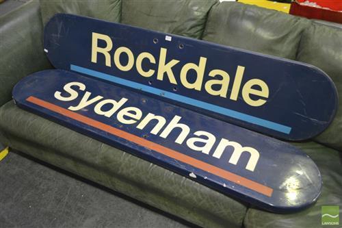 Pair of Modern railway Signs