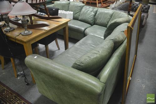 Large Leather Corner Lounge