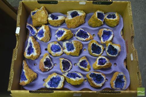 Box Of Split Royal Blue Geodes