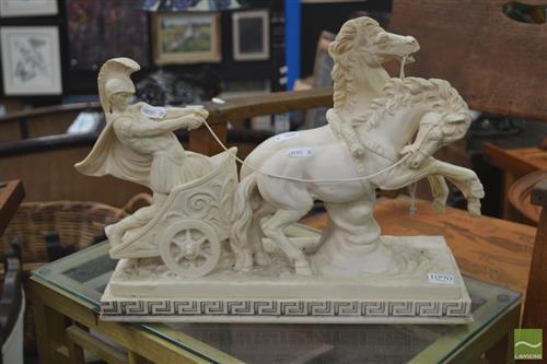 Composite Chariot Figure