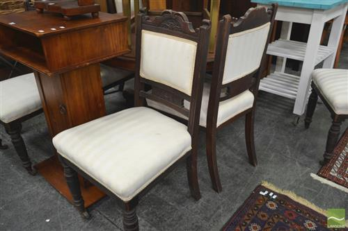 Set of 6 Carved Back Dining Chairs