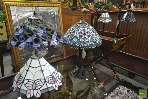 Leadlight Table Lamps x 5