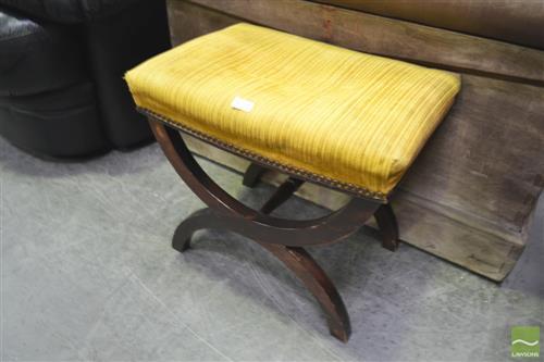 19th century x-framed stool