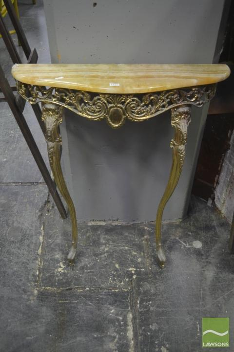 Brass Based Console Table
