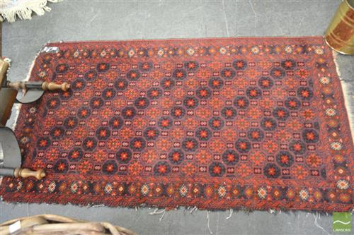 Probably West Persian Wool Carpet with diagonal arrangement of stars (faults)