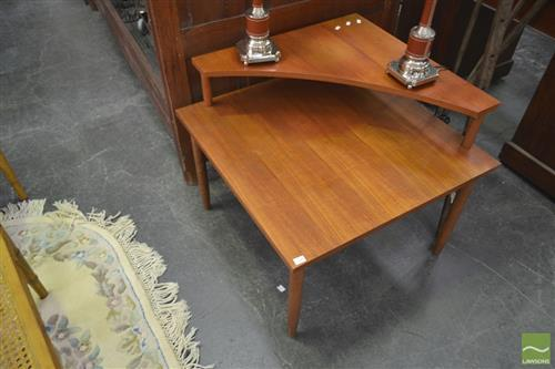 Corner Teak Coffee Table