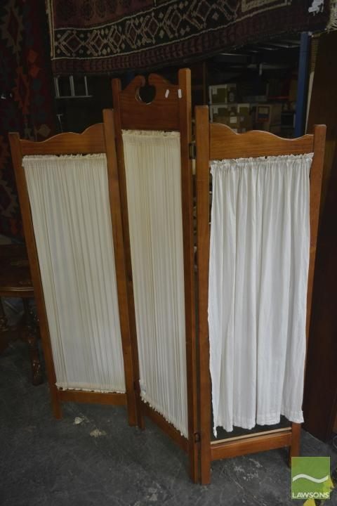 Timber Three Panel Wall Screen