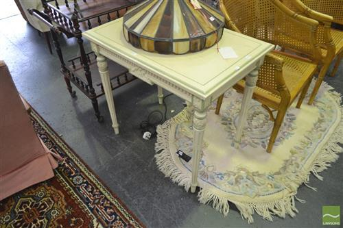 Painted Hall Table on Tapering Legs