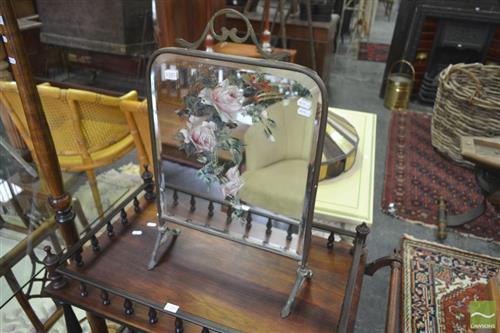 Victorian Bevelled Edge Brass Framed Mirror