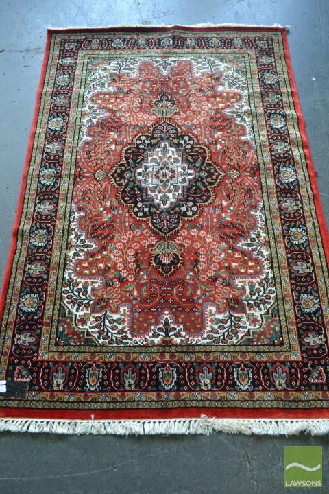Kashmir Silk Rug (185 x 120cm)