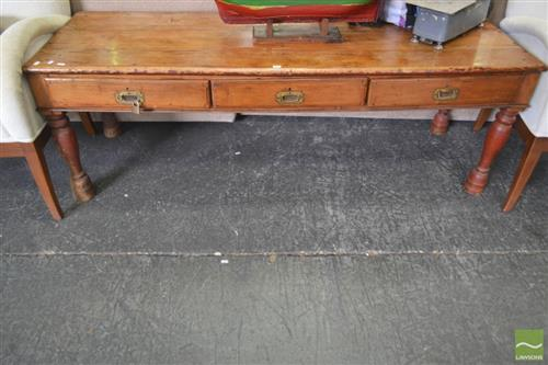 Low Rustic Hall Table