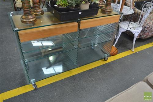 Fiam Italia Glass Sideboard (chipped)