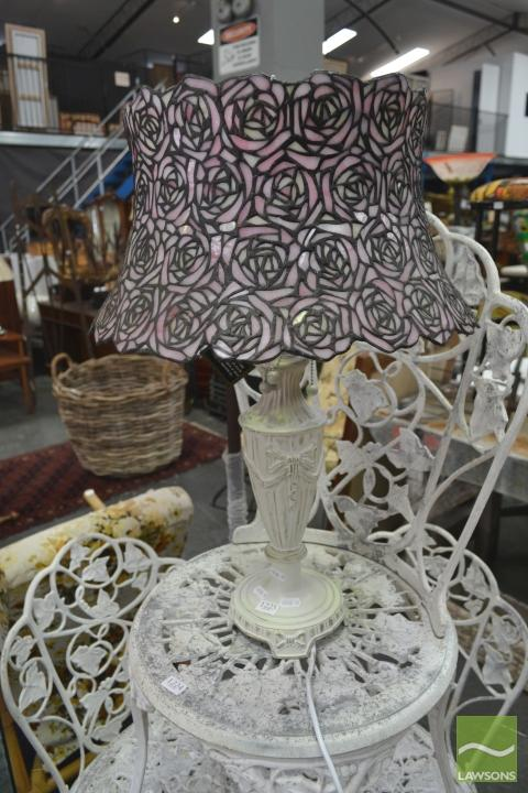 Pink Shade Table Lamp