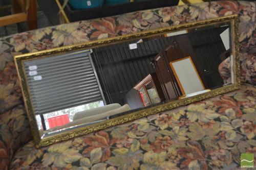 Gilt Framed Rectangular Bevelled Edge Mirror