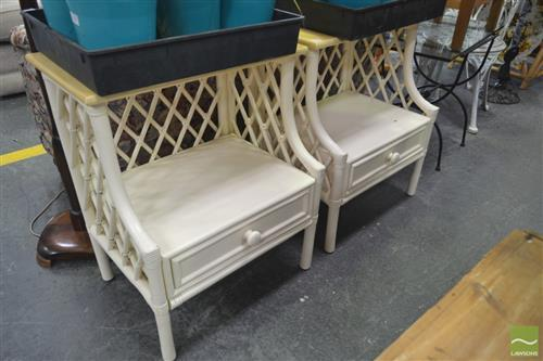 Pair of Cane Bedsides