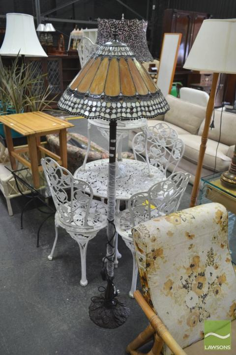 Leadlight Shade Standard Lamp