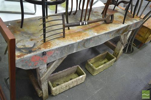 Tin Topped Works Bench