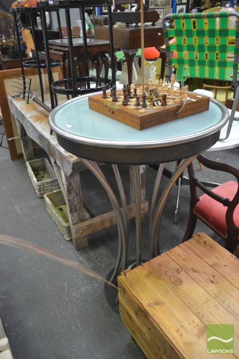 Art Deco Style Light Up Bar table