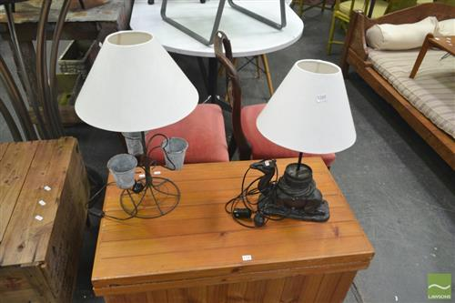 Camel Form Table Lamp w Another