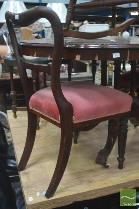Pair of Kidney Back Chairs (1 with broken back)