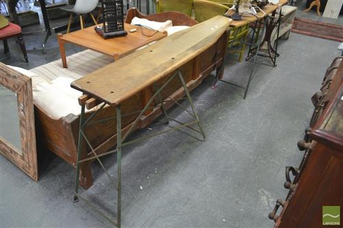 Pair of Timber Ironing Boards