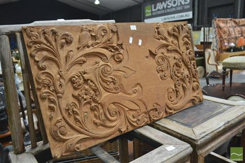 Carved Timber Panel