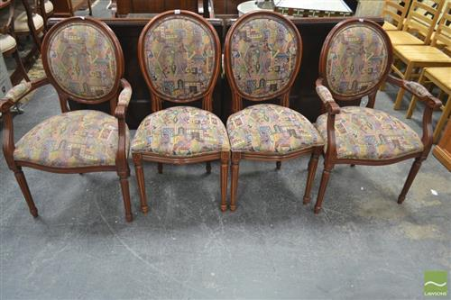 Set of 4 Balloonback Chairs inc 2 Carvers