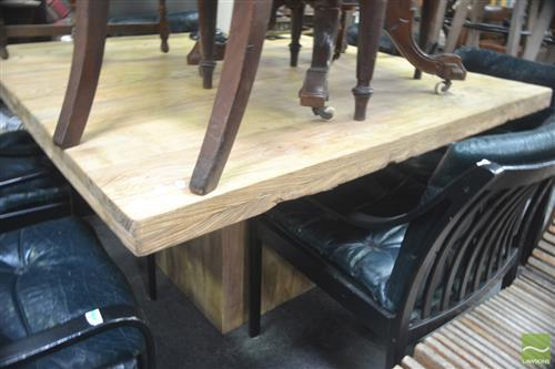 Recycled Elm Square Dining Table (Top 140 x 140cm)