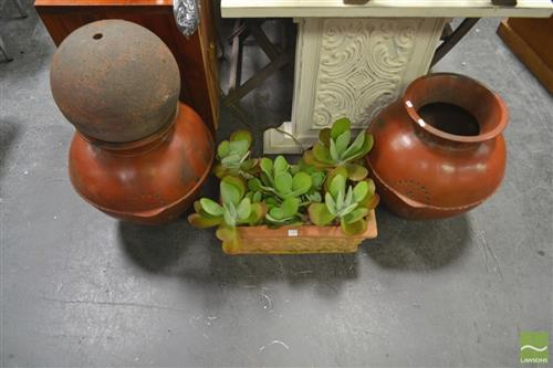 Collection of Terracotta Pots incl 1 with Succulents