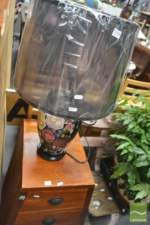 Floral Lamp, Belgium (2271)