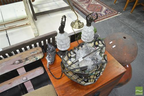 Pair of Figural Lamps w 2 Sconces