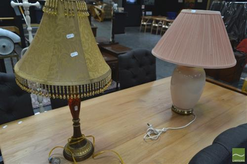 Ceramic Based Table Lamp w Another