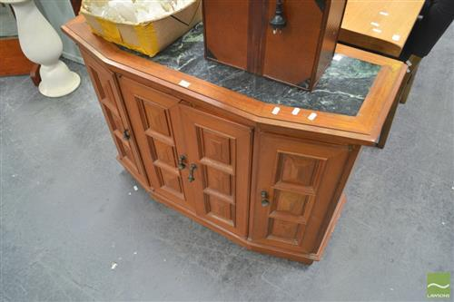 Small Marble Top Sideboard