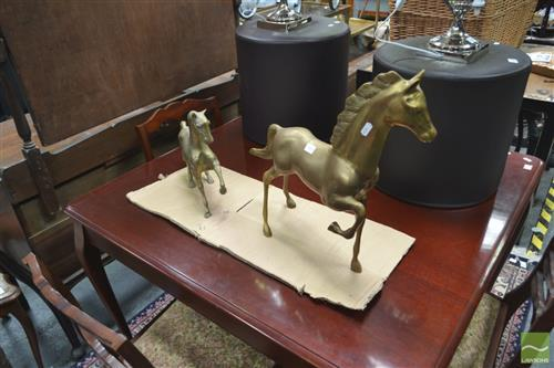 Pair of Brass Horses
