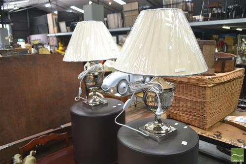 Pair of Metal Based Table Lamps(5607)