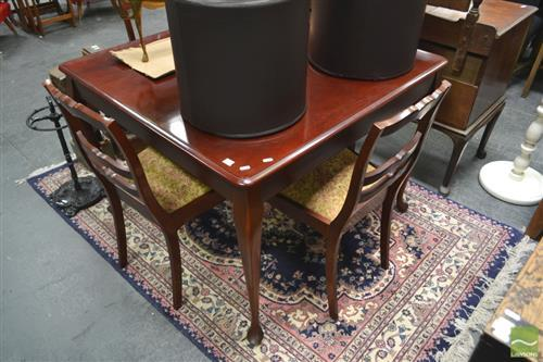 Queen Anne Style 5 Piece Dining Suite